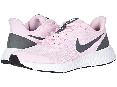 Nike Kids Revolution 5 (Big Kid) (Pink Foam/Dark Grey) Girls Shoes