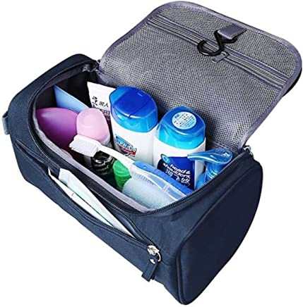 GOCART WITH G LOGO Travel Cosmetic Organizer Bag, Waterproof Wash Bag, Men Women Cosmetic Makeup Bag, Hanging Toiletry Bag, Necessaries Make Up Case (Blue)