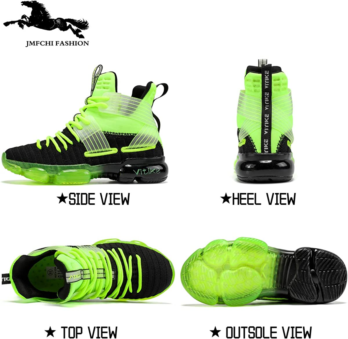 JMFCHI FASHION Boys Basketball Shoes Kids High Top Sports Shoes Girls Outdoor Sneakers Non-Slip Boys Shoes for Little Kid Big Kid