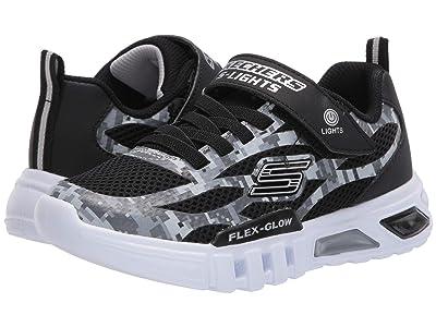 SKECHERS KIDS Sport Lighted Flex-Glow 400018L (Little Kid/Big Kid) (Black/Gray) Boy