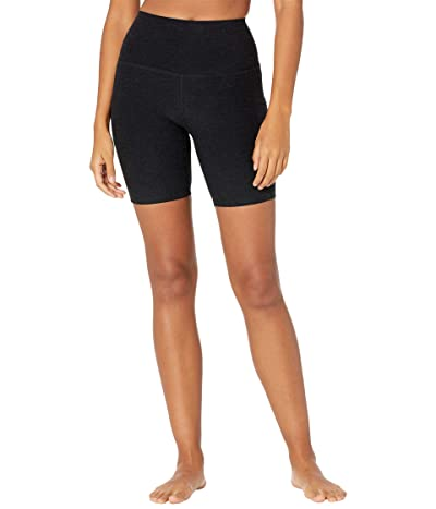 Beyond Yoga Spacedye Team Pockets High Waisted Biker Shorts (Darkest Night) Women