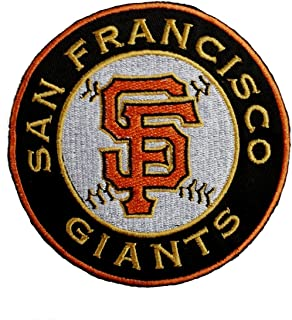 Giants Fully Embroidered Iron On Patch 3.9