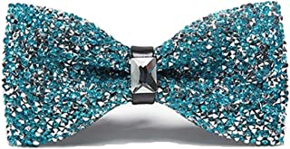 Men Luxury Sparkling Diamante Bowties Noble Shiny Crystal Rhinestone Bow Ties