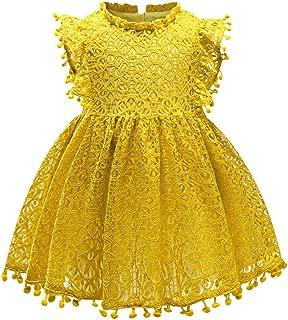 Eocom Little Girls Soft Summer Cotton Short Sleeve Dresses T-Shirt Casual Cartoon Dress