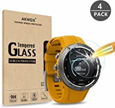 AKWOX [4-Pack Tempered Glass Screen Protector for Suunto Spartan Trainer Wrist HR,[0.3mm 2.5D High Definition 9H Hardness]...