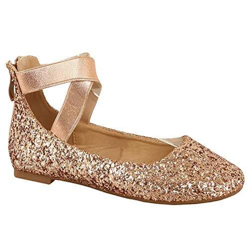 67071e393101 Women's Classic Glitter Ballerina Flats with Elastic Crossing Straps Casual  Yoga Ballet Slip On Loafer Shoes