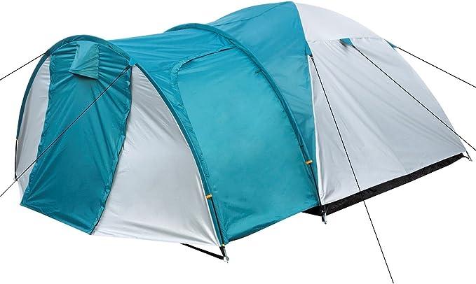 CampFeuer Biglu - Tienda de campaña para 3 personas, para camping, exterior y senderismo, incluye piquetas y bolsa de almacenamiento