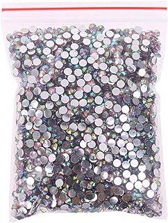 Fugift 5000 gemas de cristal redondas degradadas de color rosa para manualidades, decoración de uñas, ropa, zapatos, bolsa...