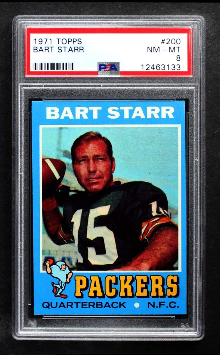 1971 Topps # Trust 200 Bart Starr Packers Bay PS Football Max 70% OFF Card Green