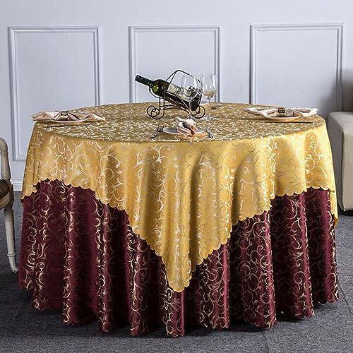LWF Europ che Tischdecke Doppelzimmer Tischdecke Hotel Tischdecke Runde Tischdecke, Haushalt Tischdecke WE29 (Farbe   A, Größe   Round -240cm)