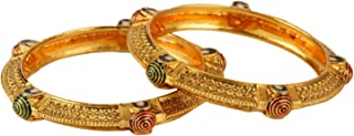 Fashion Jewelry Indian Bollywood 14 K Gold Plated Faux Ruby Emerald Bracelets Bangle Set for Women