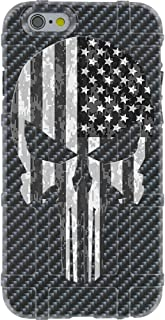 EGO Tactical Limited Edition Design UV-Printed onto a MAG849 Field Case Compatible with Apple iPhone 7 + Plus 8 + Plus 7+ 8+ Carbon Fiber Punisher BW USA Flag