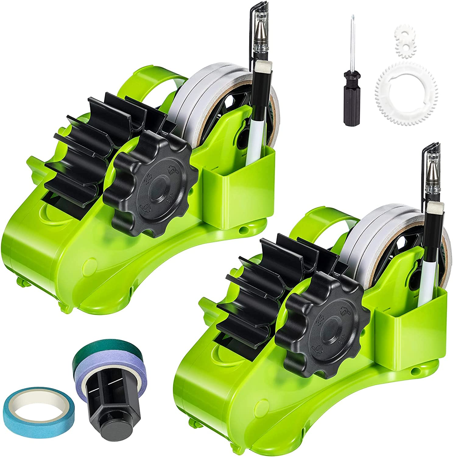 2 Pieces Semi-Automatic Desk Tape Multiple Dispenser Roll Ranking TOP10 San Diego Mall He Cut