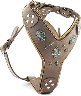 Bestia Aztec Grey Big Dogs Leather Chest Plate Harness