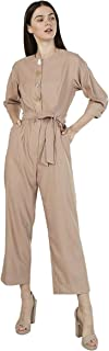 Iconic Women's 2091044 SS23BUTNJMP Woven Cocktail Jumpsuit, Brown