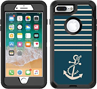 Teleskins Protective Designer Vinyl Skin Decals/Stickers for Otterbox Defender iPhone 8 Plus/iPhone 7 Plus Case - Nautical Ropes and Anchor Design Patterns - only Skins and not Case