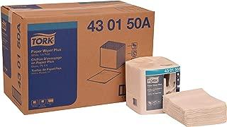 Tork 430150A Paper Wiper Plus, 1/4 Fold, 1-Ply, 12.5
