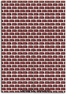 Cute Doorway Curtain Screen,Modern Room Divider Curtain,Retro Cartoon Style Double Decker Bus Pattern UK England Travel Transportation(31.5x47.2 Inches),Hanging Curtain for Bedroom Living Room Kitchen