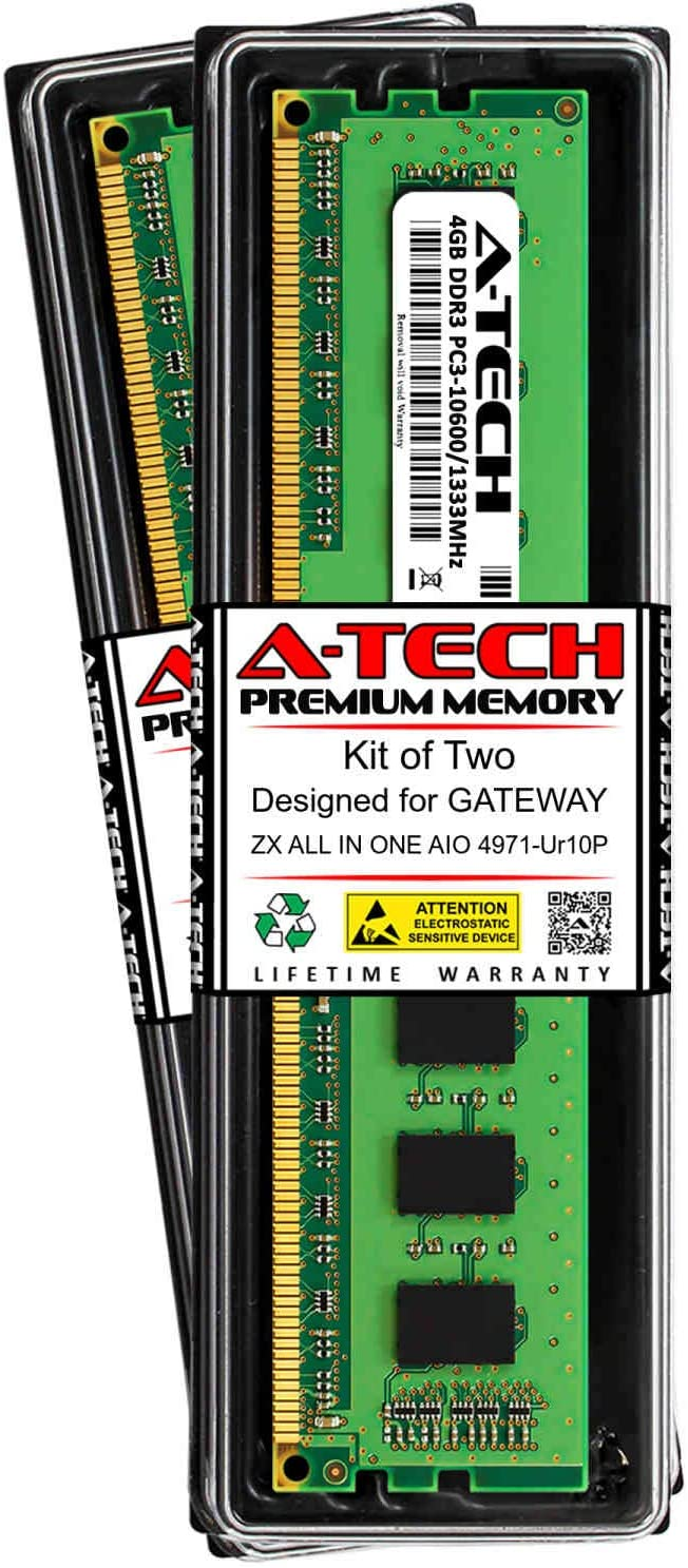A-Tech 8GB 2 x 4GB RAM for ZX All in ONE AIO Gateway 4971-UR10 SEAL limited Recommendation product