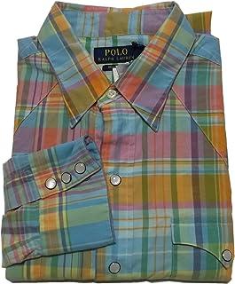 (ポロ ラルフローレン) 長袖 ウエスタンシャツ ブルー Polo Ralph Lauren 952 [並行輸入品]
