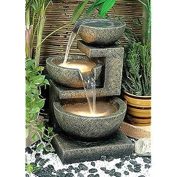 Alfresco Home Rocca Resin Fountain, Brown