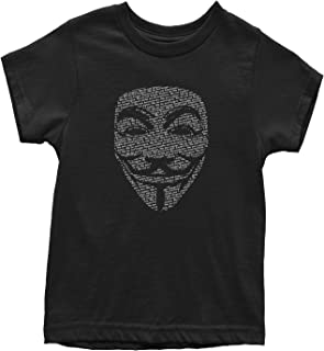 V for Vendetta Anonymous Mask Youth T-Shirt
