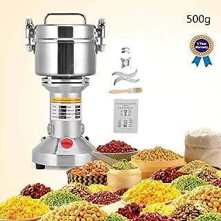 S SMAUTOP Acero Inoxidable eléctrico de Grado alimenticio de la categoría alimenticia de la Amoladora de Grano de para el Molino de Pimienta de la Especia de la Hierba de la Cocina (500g)