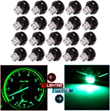 cciyu 20 Pack Green T4 T4.2 2835 LED Neo Wedge A/C Climate Control Light Bulb Replacement fit for 1998-2010 Honda Accord/Odyssey