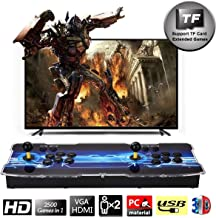 SeeKool Newest 3D Pandora X Arcade Game Console, 1920x1080 Full HD 4 Players Max Arcade Machine with 2500 Games, Support Extended TF Card& USB Disk to Enjoy More Games PC / Laptop / TV / PS3