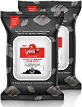 Yes To Tomatoes Clear Skin Detoxifying Facial Wipes for All Skin Types, Charcoal, 60 Count (Pack of 2)