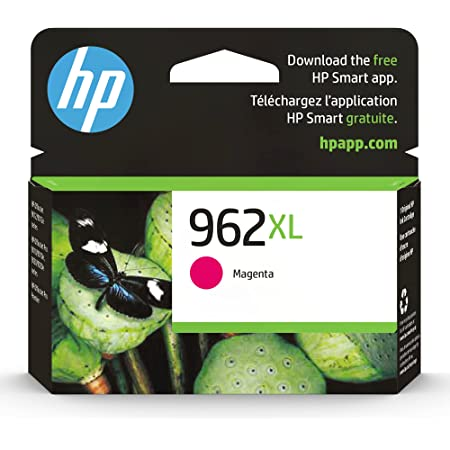 Original HP 962XL Magenta High-yield Ink Cartridge   Works with HP OfficeJet 9010 Series, HP OfficeJet Pro 9010, 9020 Series   Eligible for Instant Ink   3JA01AN