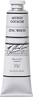 M. Graham 2-Ounce Tube Gouache Paint, Zinc White