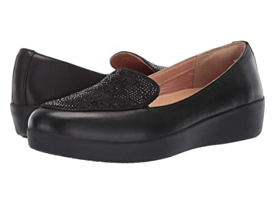 FitFlop Crystal Sneakerloafer (Black) Women