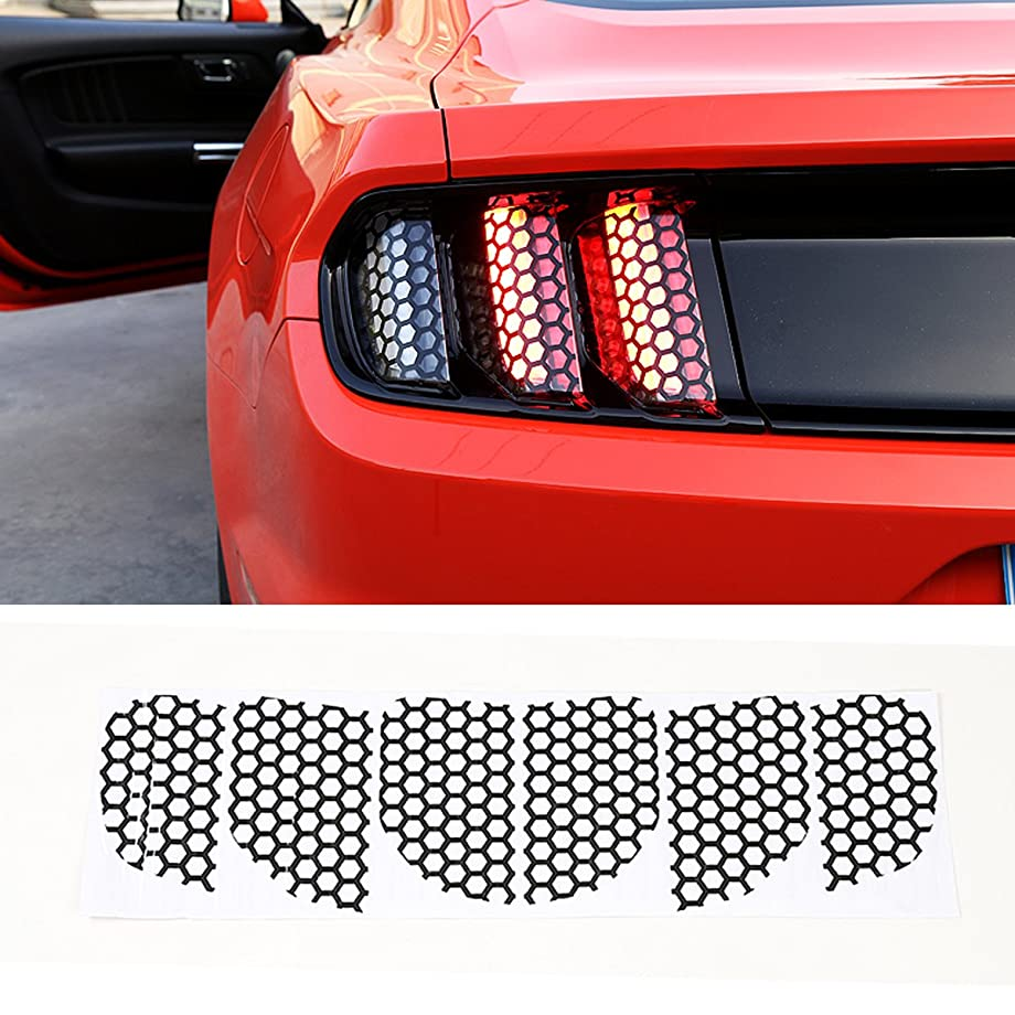 Kaizen Tail Light Stickers Rear Bumer Lamp Decoration Cover Car Exterior Refitting Trim Kits for Ford Mustang 2015 2016 2017
