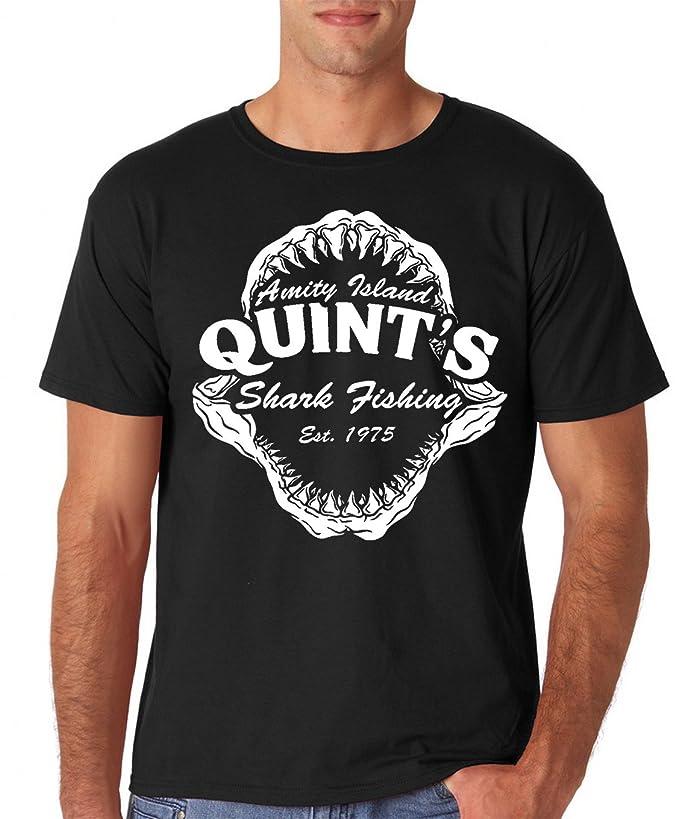 AW Fashions Quint's Shark Fishing Amity Island Jaws Funny 70's Movie Premium Men's T-Shirt