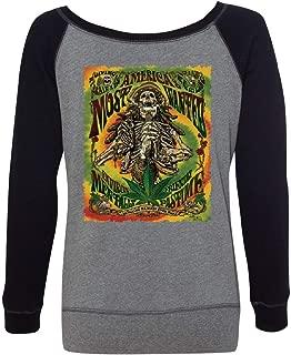 America's Most Wanted Women's Sweatshirt 420 Smoking Weed Marijuana Rasta