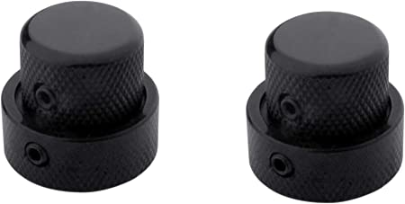 Hippopy guitar parts 2 Sets Dual Concentric Stacked Control Knobs for Electric Bass Guitars Gold Color