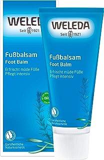 WELEDA Fußbalsam, Naturkosmetik Fußpflege zur Vorbeugung und Behandlung von Hornhaut, Fußcreme und Schrundensalbe zur Pflege beanspruchter und trockener Füße 1 x 75 ml