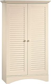 Sauder Harbor View Storage Cabinet, Antiqued White finish