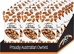 Australian Natural Almonds by J.C.'s Quality Foods - Premium Australian Natural Almonds, Healthy Energy Boosting Snack -18 x 45g Bags