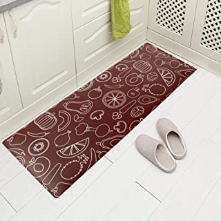 Carvapet Comfort Anti-Fatigue Kitchen Standing Desk Mat Waterproof Decorative Ergonomic Floor Pad Kitchen Rug, Fruits&Vegetables Design 18