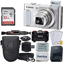 Canon PowerShot SX620 HS Digital Camera (Silver) + 32GB Memory Card + Point & Shoot Camera Case + USB Card Reader + Memory Card Hardcase + LCD Screen Protectors + Hand Camera Grip - Complete Bundle