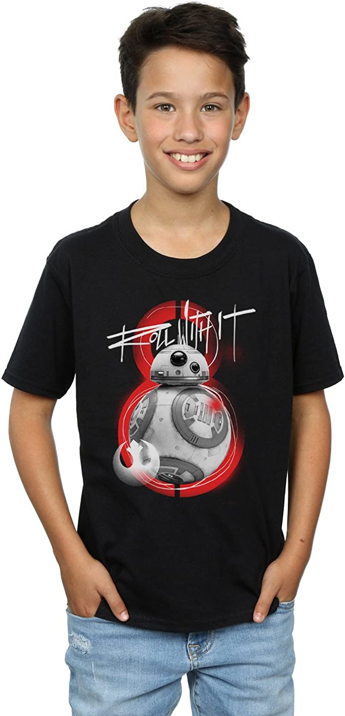 STAR WARS Boys The Last Jedi BB-8 Roll with It T-Shirt 5-6 Years Black