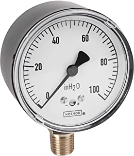 25-410-1500-psi 0-1500 psi Pressure Range 2-1//2 Dial Inc +//-1.5/% Accuracy NOSHOK 400 Series All Stainless Steel Dry//Fillable Dial Indicating Pressure Gauge with Back Mount 2-1//2 Dial