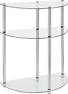 Convenience Concepts Designs2Go 3-Tier Glass Entryway Table, Glass
