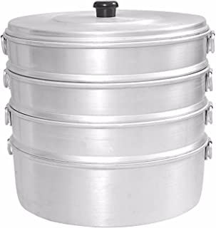 "Finaldeals Aluminium Momos Steamer 8"" With 4 Tier Water Capacity 2.3 Liters"