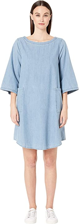 Bateau Neck 3/4 Sleeve K/L Dress