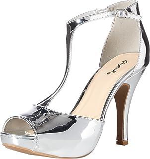Qupid womens QUPID platform sandal