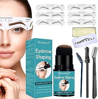Eyebrow Stamp Waterproof, Brow Stamp Shaping Kit, Eyebrow Stamp Stencil Kit, Eyebrow Definer, with 12 Reusable Eyebrow Ste...