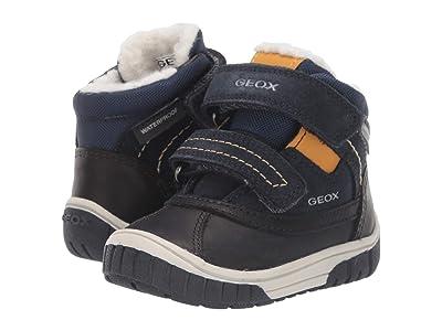 Geox Kids Omar Waterproof 2 (Toddler) (Navy/Yellow) Boys Shoes